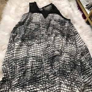 Doe & Rae black and white flowy dress